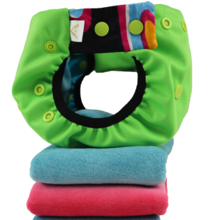 ApiAfrique green cloth diaper with inserts